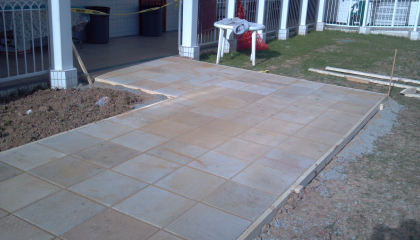 Concrete Tile Installation Sidewalk Repair